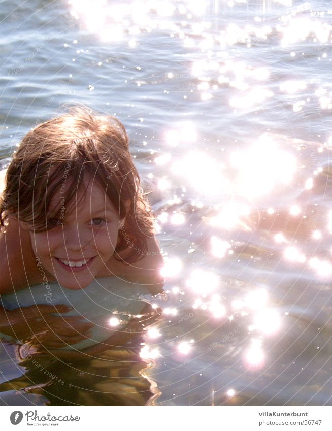 Child Sun Ocean Summer Calm Relaxation Boy (child) Happy Lake Contentment Glittering Happiness Swimming & Bathing Childlike