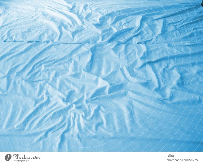 uploaded and taken for fun! Bed Blue Sheet bleu sheets Colour photo