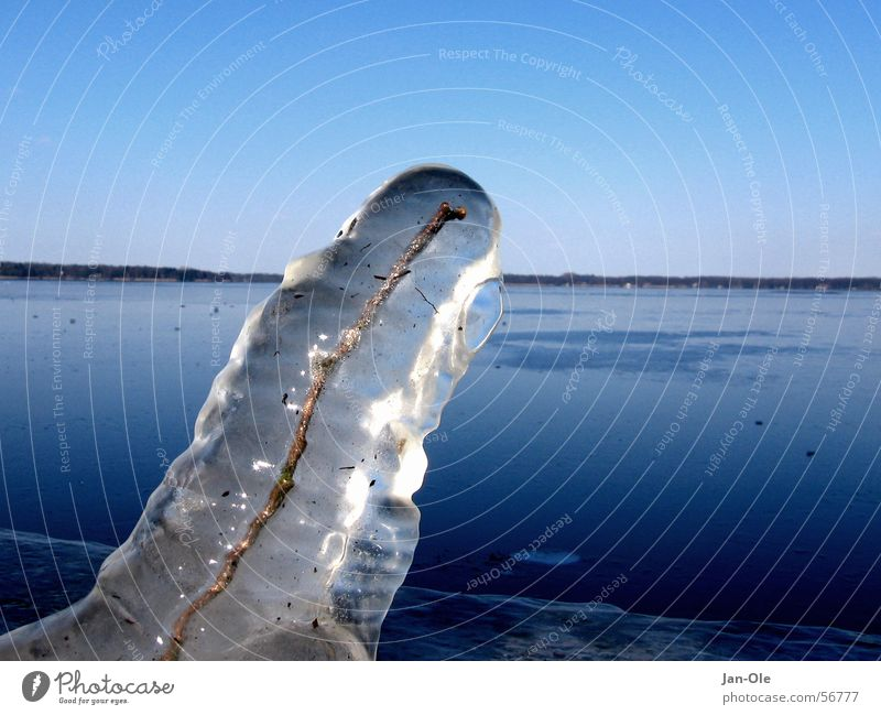 Cold Lake Ice Frost Express train Sheath Icicle