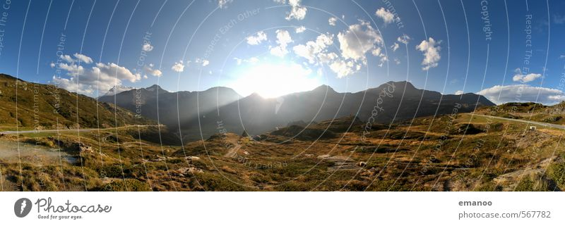 Sky Nature Vacation & Travel Blue Green Summer Sun Landscape Mountain Warmth Grass Rock Weather Climate Tourism Hiking