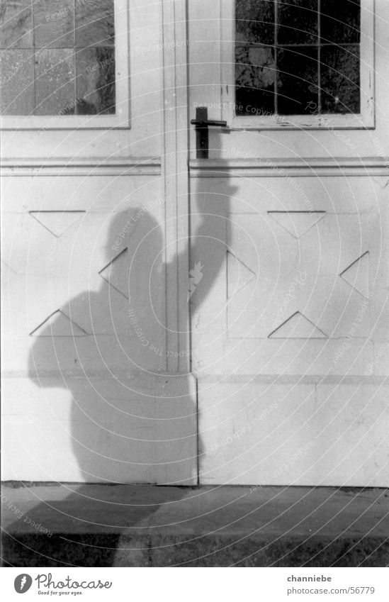 shadow play Exterior shot Shadow play Black & white photo Door open the door opening the door winning Freedom achieve target achieving the goal