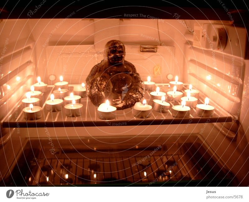 Inner Peace Candle Icebox Human being inner peace Buddha
