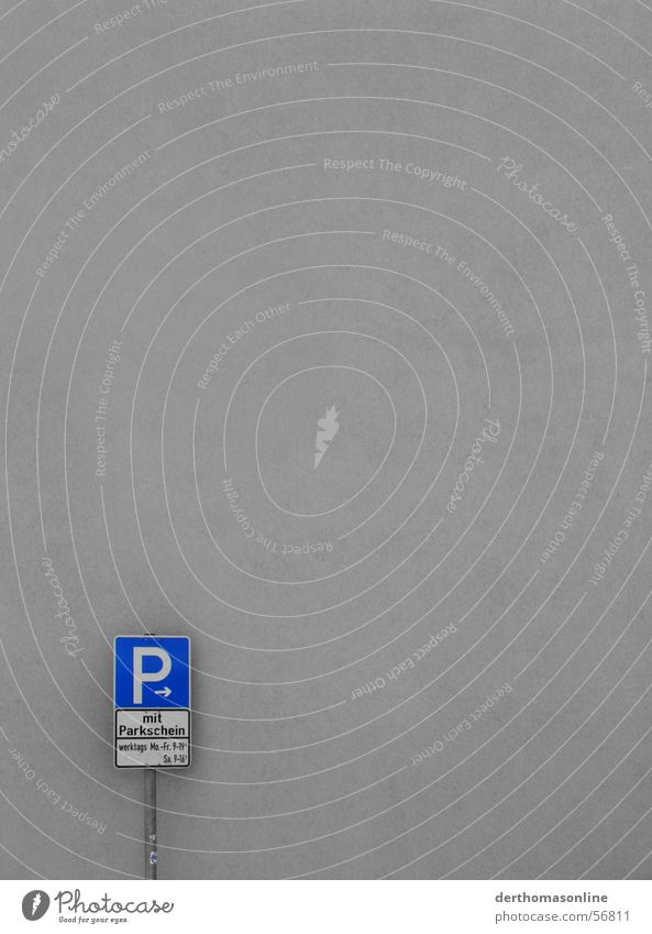 on weekdays 9-19 o'clock Parking lot Pay and display ticket Parking sign Wall (building) P symbol Minimalistic Facade Simple Simplistic Empty Clean Label
