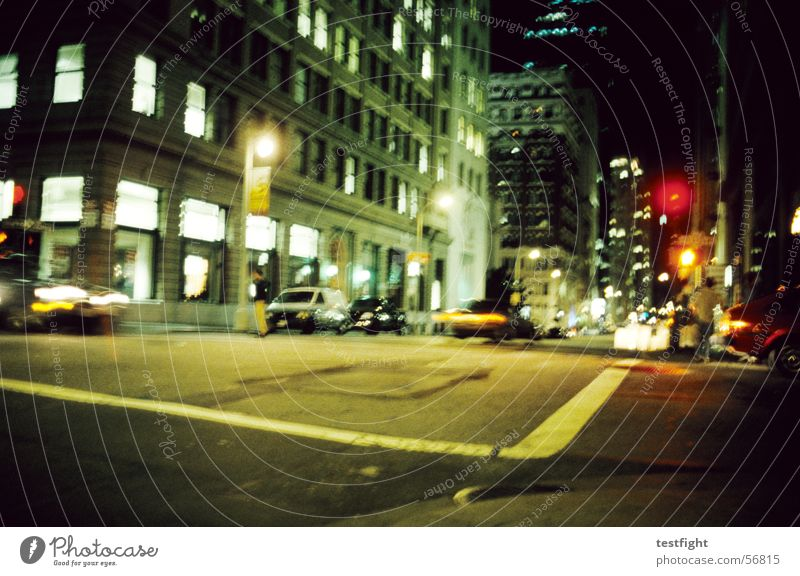 Green City Red Vacation & Travel Yellow Street Dark Building Lighting Trip Escape Traffic light Criminal In transit Chase