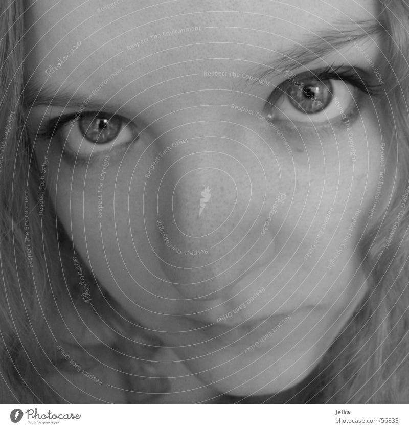 plinker, plinker! Face Girl Woman Adults Eyes Nose Mouth Blonde hesichter faces moment eye Close-up Looking
