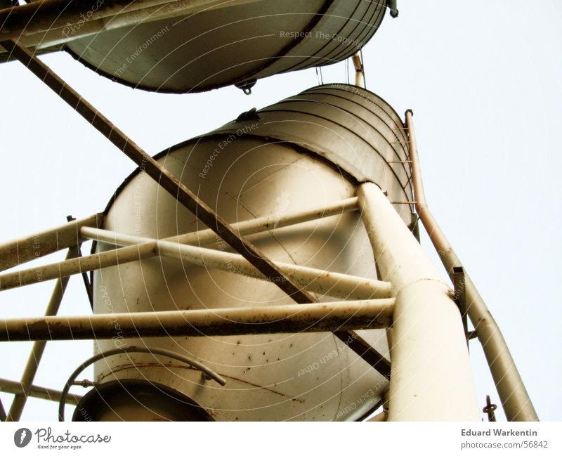 Silos II Iron Steel Industrial district Industrial Photography Keep Rust