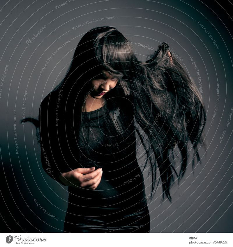 Human being Woman Youth (Young adults) Beautiful Loneliness Young woman Calm 18 - 30 years Face Adults Emotions Feminine Hair and hairstyles Head Fashion Art