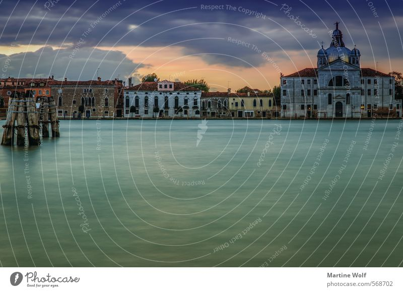 Isola della Giudecca Water Sky Sunrise Sunset Coast Venice Italy Europe Village Town House (Residential Structure) Church Vacation & Travel La Giudecca