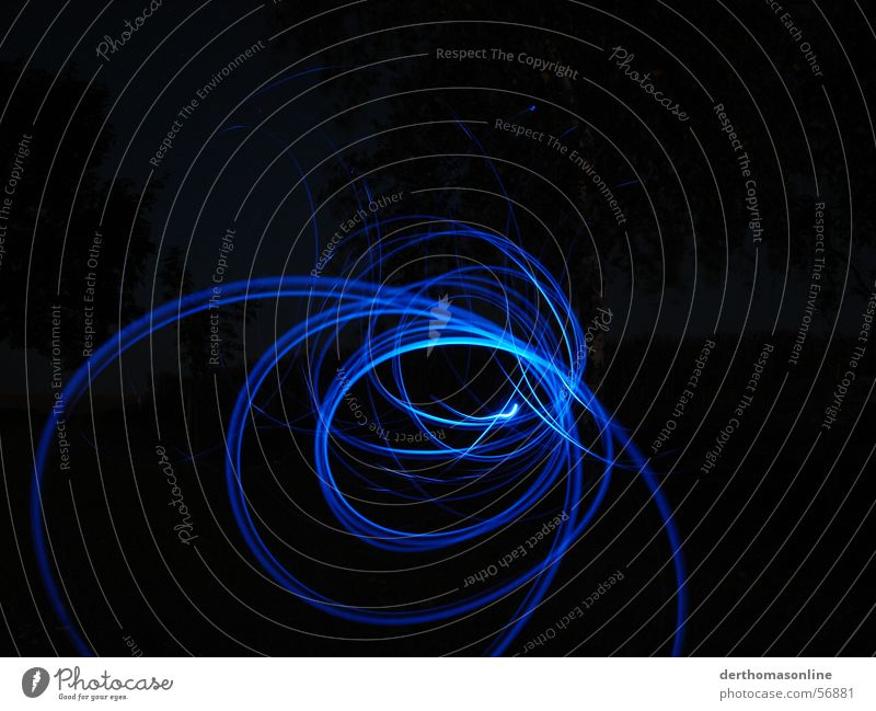 Blue Black Dark Movement Lighting Fear Speed Circle Action Electricity Stripe Direction Dynamics Pull Desire