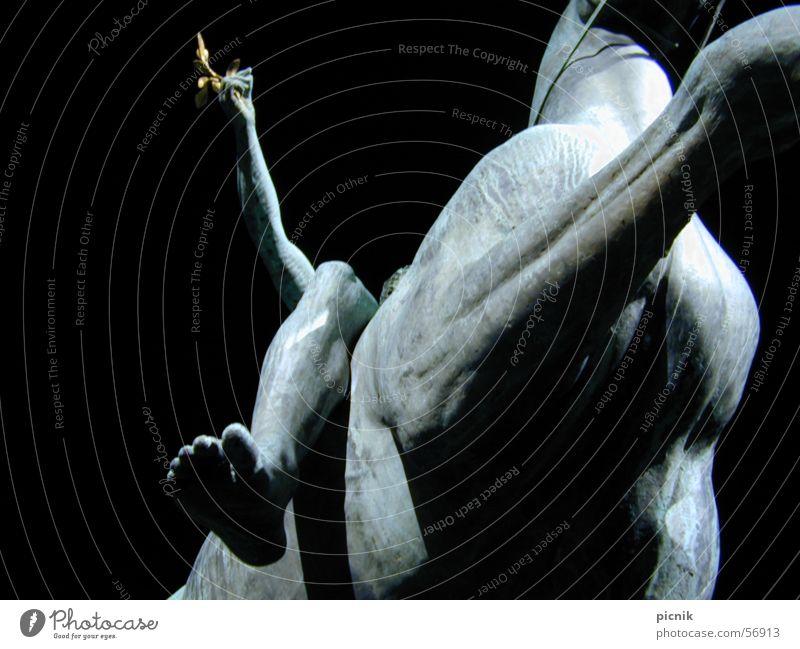 horsefoot Statue Night Horse Monochrome Bay leaf Art Worm's-eye view Toes Dream Bronze Feet bridle Shadow triumphant Success Musculature Gold Berlin Barefoot