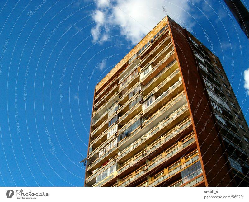 Flats in Sofia Block Blue sky Orange flats