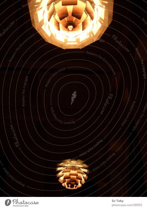Black Yellow Lamp Dark Style Lighting Orange Design Round Romance Blanket Beige Glow Classic Flare Fir cone