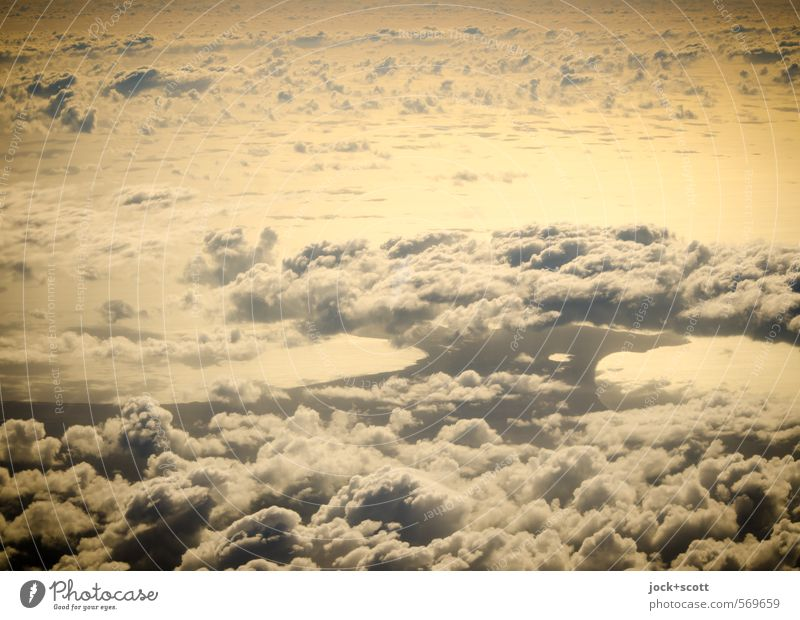 morning glory Clouds Warmth Far-off places natural Wanderlust Climate Cloud formation Natural phenomenon Mushroom cloud Solar Power Aerial photograph Dawn