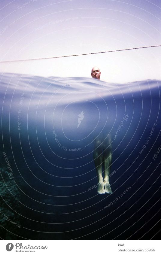 Water Ocean Blue Summer Vacation & Travel Above Head Feet Waves Rope Dive Under Division Underwater photo Hang