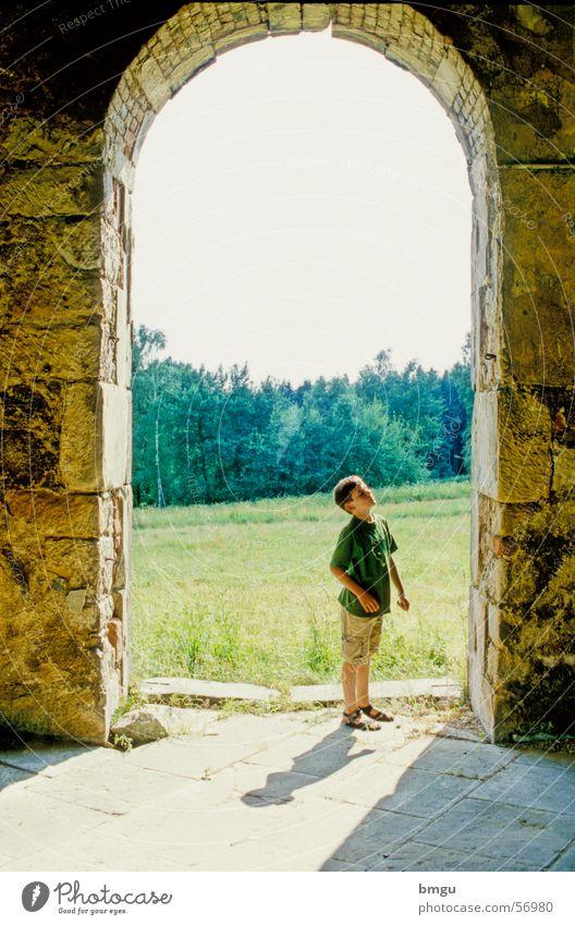 amazement Ruin Wonder Admiration Child Summer Bohemian Forest
