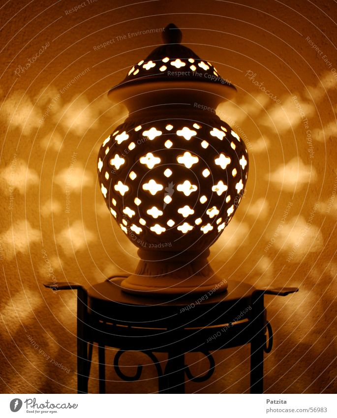 Black Yellow Lamp Brown Orange Romance Crockery