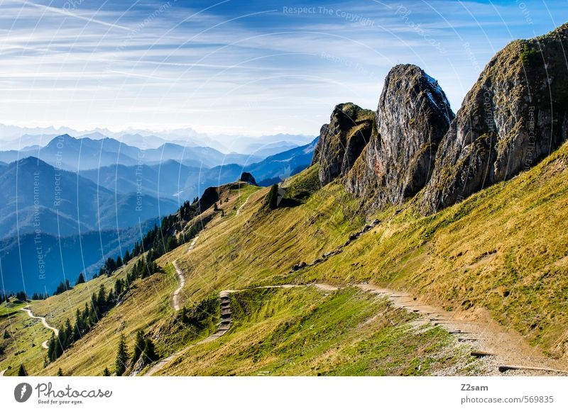 Rotwand Mountain Hiking Nature Landscape Sky Autumn Beautiful weather Rock Alps Peak Far-off places Tall Natural Adventure Loneliness Freedom