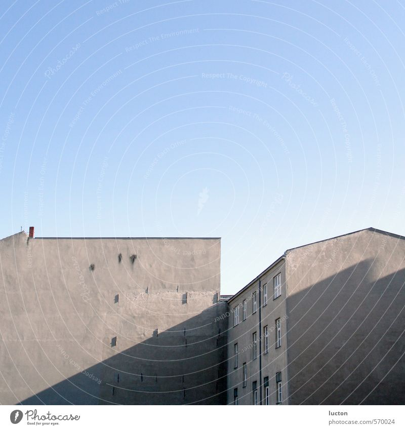 Sky Blue City House (Residential Structure) Wall (building) Architecture Building Wall (barrier) Car Window Gray Berlin Stone Facade Beautiful weather Concrete