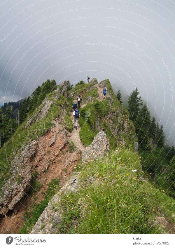 Summer Vacation & Travel Mountain Hiking Alps Bavaria Risk Allgäu Mountain ridge Comb Immenstadt Hindelang Sonthofen