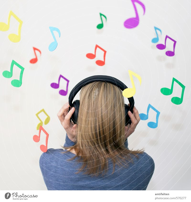 Lost in music Joy Leisure and hobbies Music Feasts & Celebrations Human being Feminine Young woman Youth (Young adults) Woman Adults Partner Head