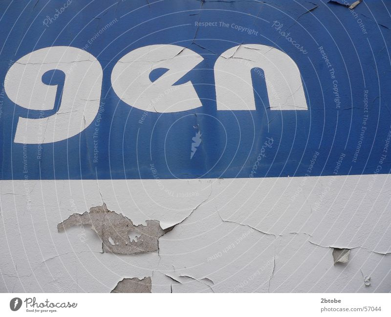 Blue Colour White Wall (building) Letters (alphabet) Decline Typography Hollow Plaster Moral Crumbled Bielefeld Gene sequence Block capitals Arminia Bielefeld