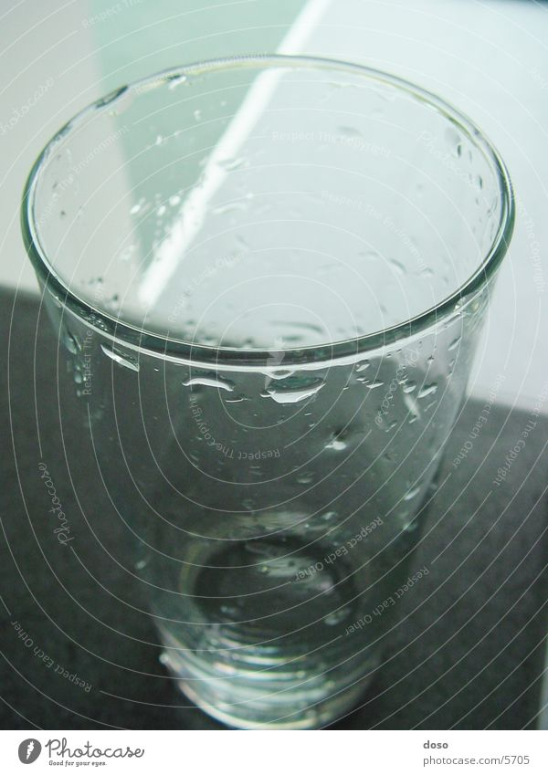 Nutrition Glass Drops of water