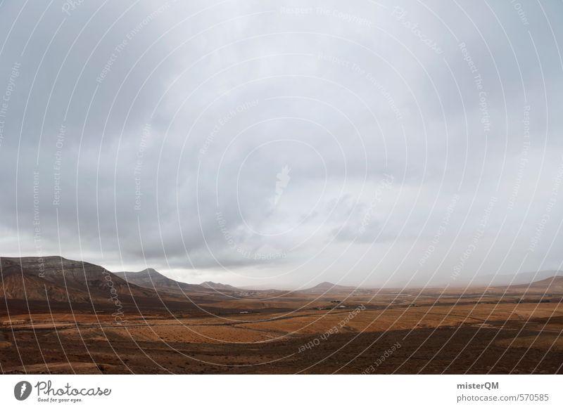 Landscape Clouds Far-off places Mountain Gray Art Brown Contentment Esthetic Wanderlust Bad weather Land Feature