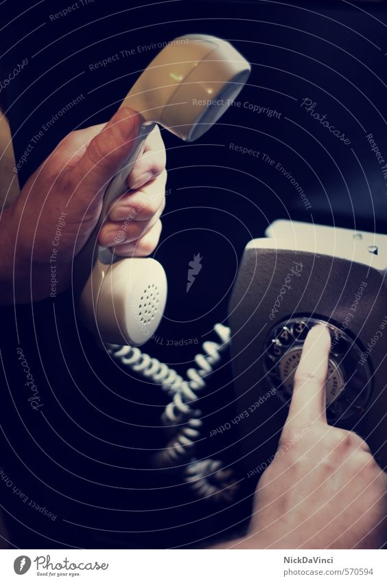 Old To talk Communicate Fingers Telecommunications String Retro Telephone Digits and numbers To hold on Contact Connection Services Analog To call someone (telephone) Select