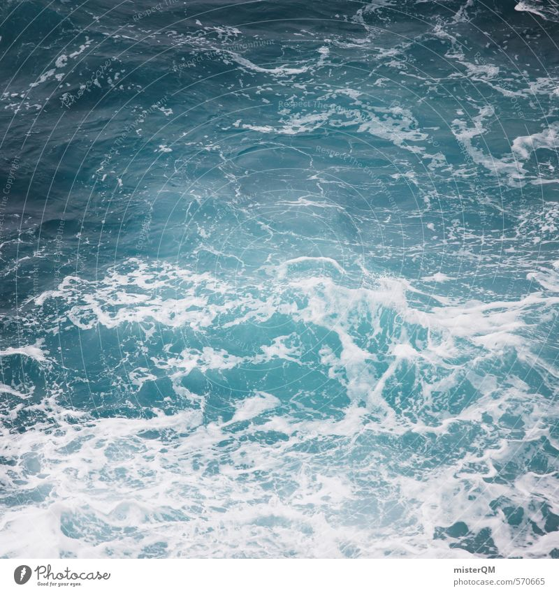 I.love.FV X Art Esthetic Contentment Ocean Sea water Strait Sea level Waves Swell Undulation Wave break Blue Vacation & Travel Coast White crest Colour photo
