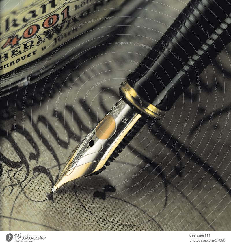 Old Black Design Gold Writing utensil Paper Romance Characters Write Things Letter (Mail) Typography Silver Text Digital photography Section of image