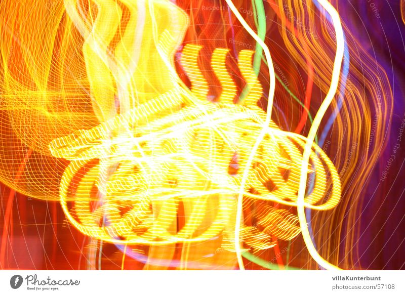 Yellow Colour Bright Visual spectacle Swirl Fairy lights