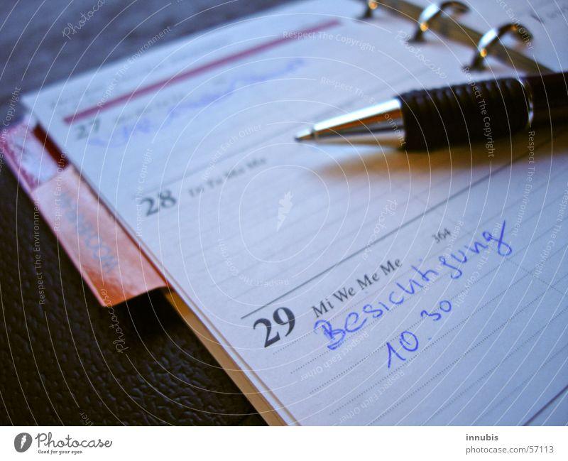 Blue Time Division Calendar Date Sightseeing Folder Ballpoint pen Wednesday