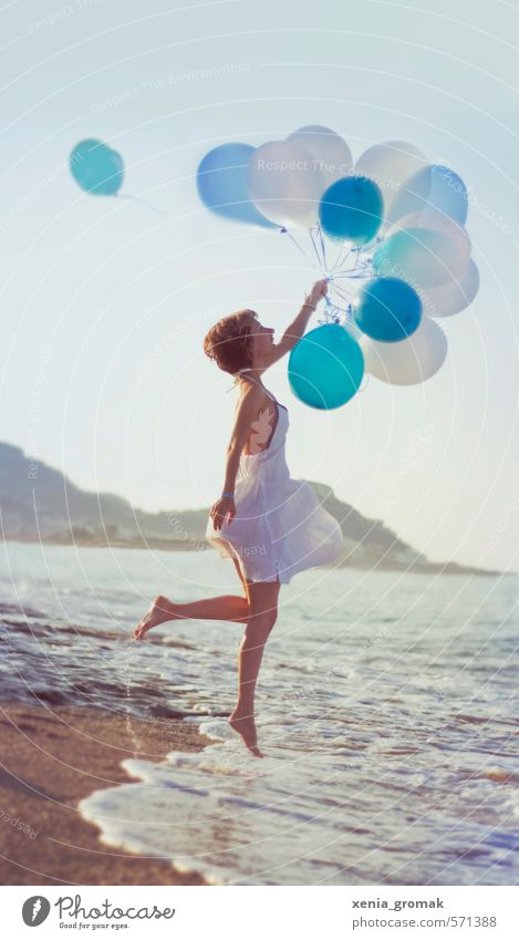 Human being Woman Child Vacation & Travel Youth (Young adults) Summer Sun Ocean Young woman Joy Beach Far-off places 18 - 30 years Adults Life Feminine