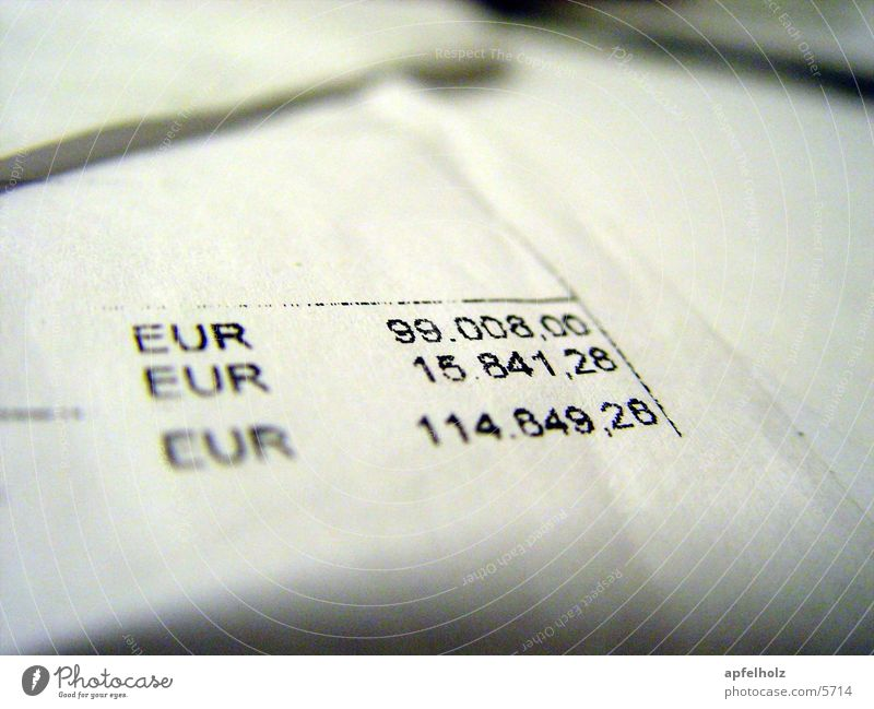 Digits and numbers Euro Mail Calculation Price tag