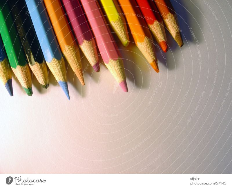 Green Blue Red Black Yellow Colour Wood Brown Orange Pink Pen Painter Difference Pointed Wood varnish