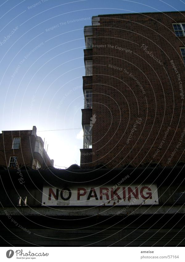 No Parking London Notting Hill House (Residential Structure) Dark Exterior shot Sky Signs and labeling Bright Sun