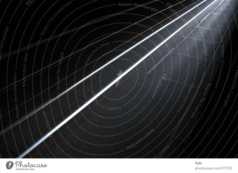 very quickly Highway Light Long exposure White Stripe Night Style Swing Dark Line Lamp Movement Bright