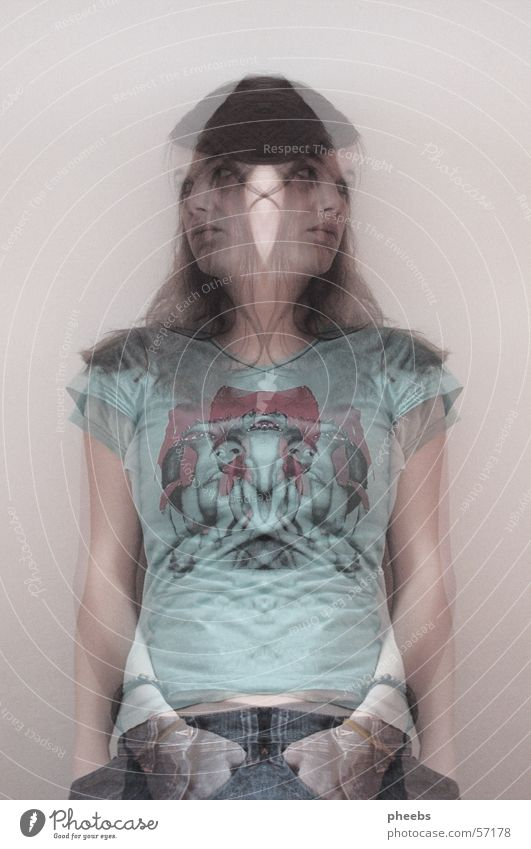 Woman Human being Jeans T-shirt Ghosts & Spectres  Double exposure Progress Clothing