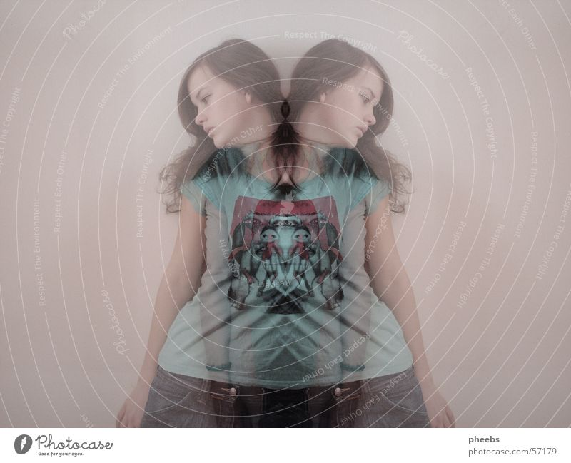 Woman Human being Jeans T-shirt Ghosts & Spectres  Double exposure Progress