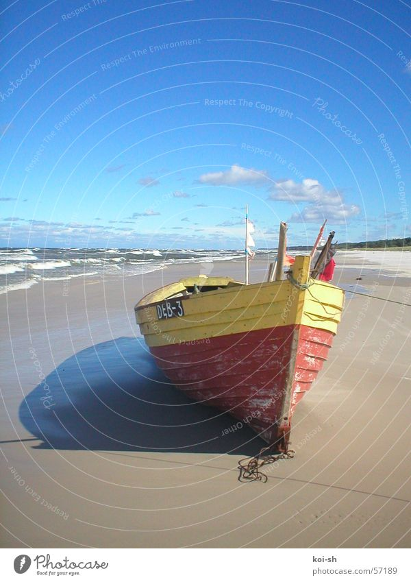 Baltic coast Watercraft Beach September Poland Baltic Sea