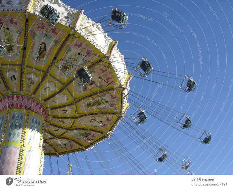 Blue Fairs & Carnivals Blue sky Carousel Chairoplane