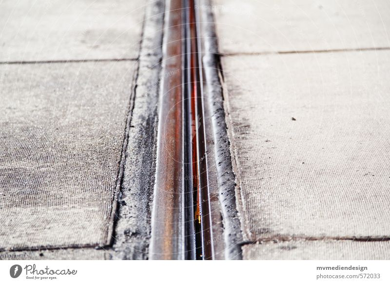 rail Traffic infrastructure Public transit Rail transport Tram Railroad system Free Colour photo Exterior shot Deserted