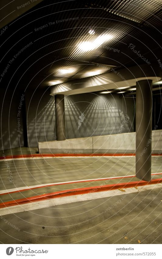Red Dark Lighting Above Lamp Signs and labeling Stripe Driving Mysterious Tracks Column Entrance Floodlight Parking garage Car headlights Cellar