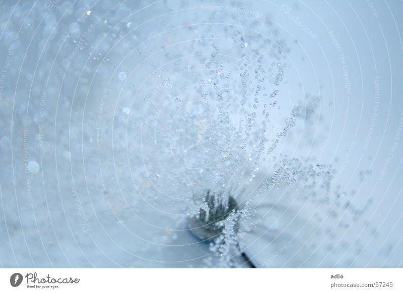 Water Blue Drops of water Wet Bathroom Shower (Installation) Bathtub Inject Shower head Take a shower