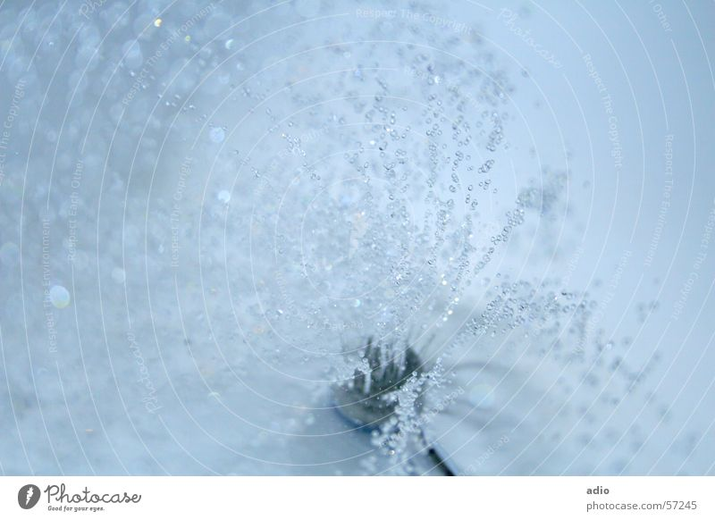 Water Blue Drops of water Wet Bathroom Shower (Installation) Bathtub Inject Shower head Take a shower