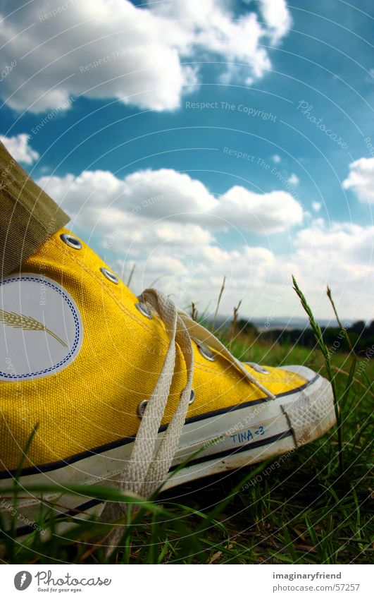 Sky Clouds Meadow Grass Footwear Countries Chucks Sneakers