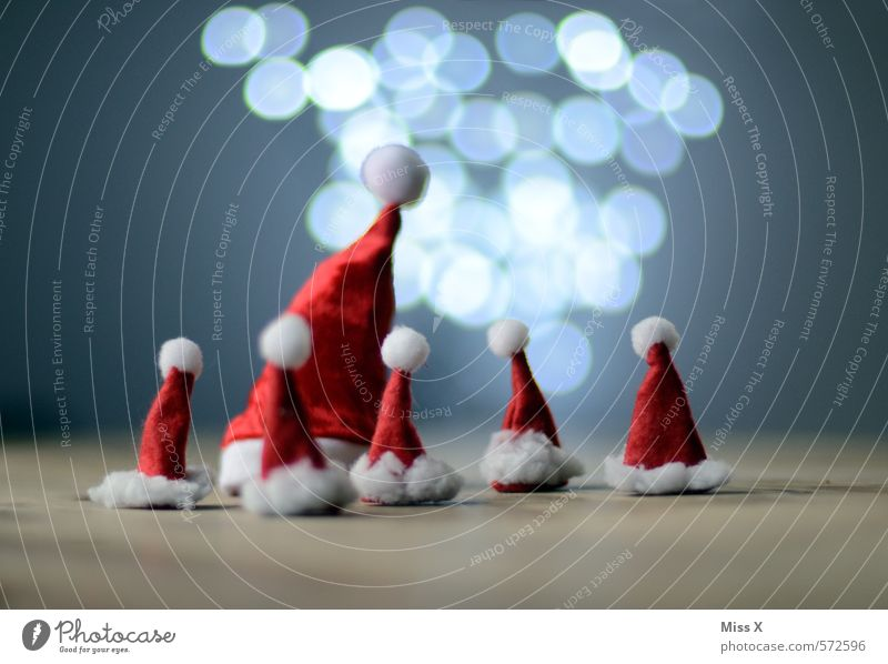 meeting Decoration Christmas & Advent Family & Relations Head Group Group of children Cap Glittering Illuminate Small Funny Cute Emotions Moody Anticipation