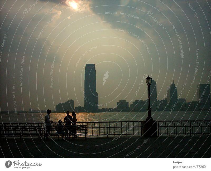 Beautiful Calm To talk Together Glittering Fog Mysterious Skyline Bay Vantage point Tourist Smooth Pedestrian Graceful Promenade