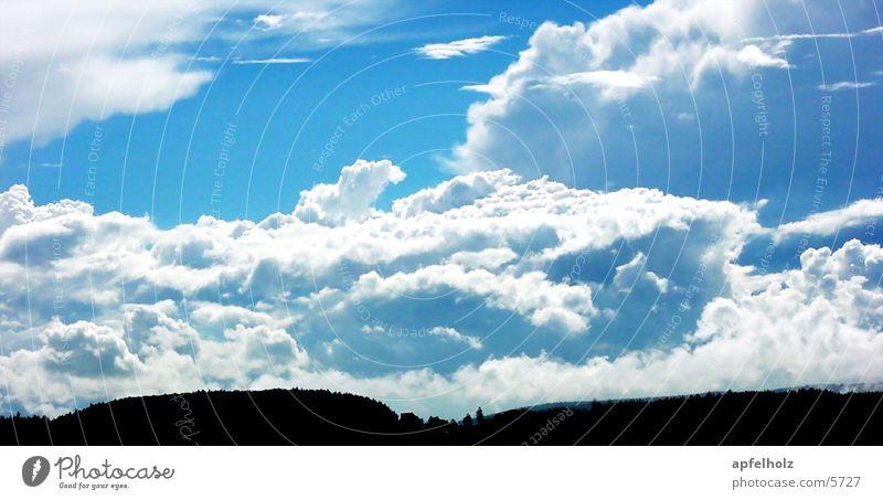 Sky Clouds Horizon Blue-white