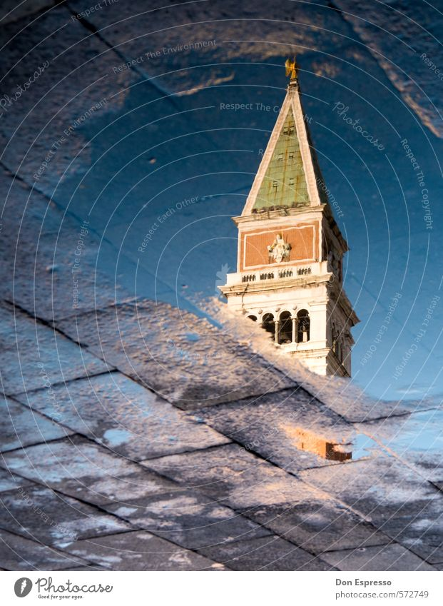 St Mark's Square Vacation & Travel Tourism Sightseeing City trip Architecture Rain Church Dome Tower Tourist Attraction Monument Moral Venice St. Marks Square